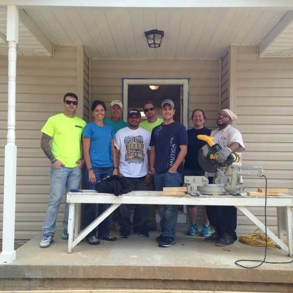 With John Helman for a Habitat for Humanity Project.