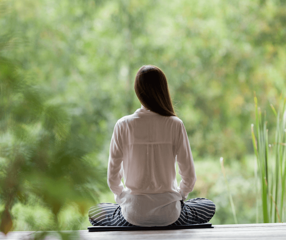 Mediation can help relieve stress.